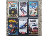 PSP Games x 6 PLAYSTATION