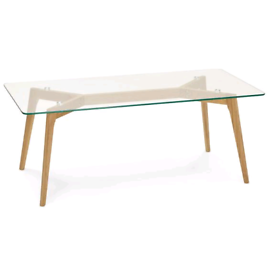 Glass coffee table, mid century, 50's inspired