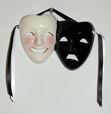 Unique Creations Classic Comedy / Tragedy  Face Mask Wall Hanging Decor - Comedy Tragedy Masks