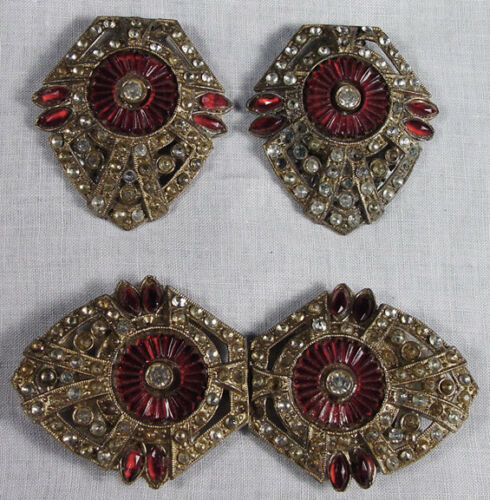 STUNNING Pair Victorian Antique Shoe Clip/Buckles / Belt Buckle #5