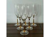 6 Champagne / Prosecco Flutes.