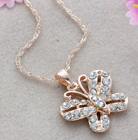 Gorgeous NEW gold filled butterfly necklace