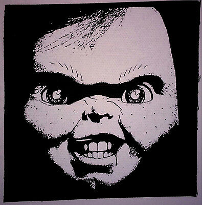 Child's Play / Chucky - PATCH canvas screen print HORROR - Slasher Good Guys 80s