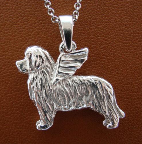 Medium Sterling Silver Newfoundland Angel Pendant