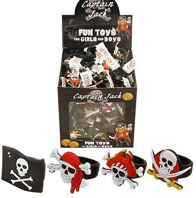 Bulk Wholesale Job Lot 156 Silicone Pirate Rings Toys