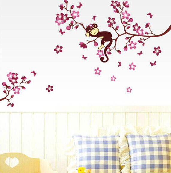 Home Decoration - Removable Art Vinyl Quote DIY Monkey Wall Sticker Decal Mural Home Room Decor