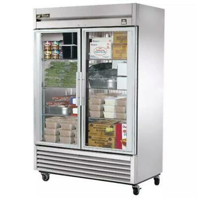 True T-49fg 54 Two Section Reach-in Freezer 2 Glass Doors 115v