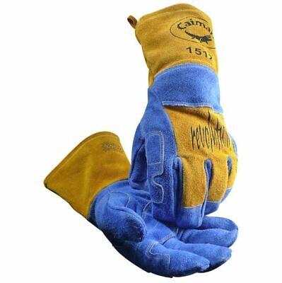 Caiman 1512 Revolution Welding Gloves Large Bluegold Tan Mig Stick Plasma