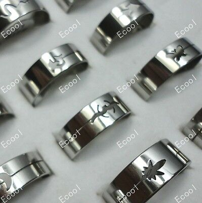 wholesale Mixed lots 30pcs fashion stainless steel rings jewelry free shipping on Rummage