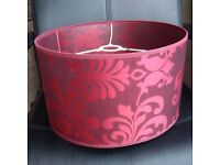 Red floral light lamp shade