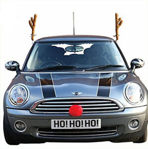 reindeer car antlers for car truck suv van windows christmas decor kit