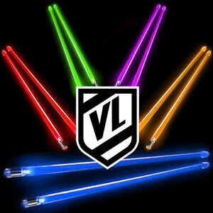 FIRESTIX Light Up glow Acrylic Lighted Drum Sticks NEW