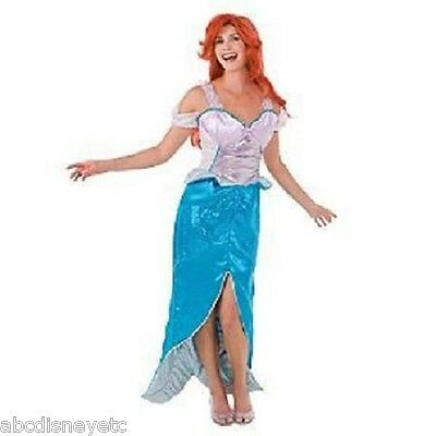 DISNEY Little Mermaid ARIEL Adult Costume Dress NEW Womens Small Sparking ](Adult Ariel Dress)