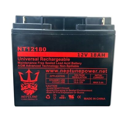 buy online 575a1 e0abd Briggs Stratton Generator B4489GS 193043GS 12V 18AH Replacement Battery  Neptune