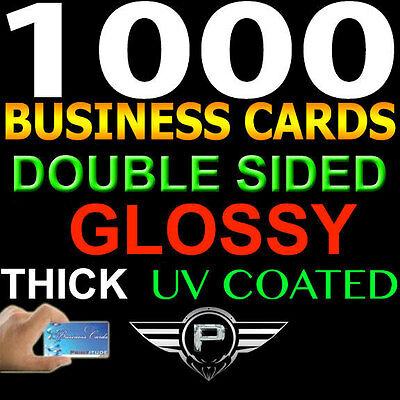 1000 Personalized Business Cards FULL COLOR 2 SIDED Thick GLOSSY Custom Print