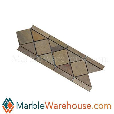 Honed Slate Tile (AUTUMN SLATE MOSAIC BORDER HONED - SLATE TILE for decorative  )