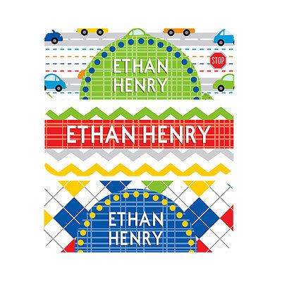 Waterproof Name Labels, Baby Bottle, Daycare, School, Cars,