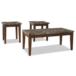 Theo 3-Piece Coffee and Two End Tables Package ( $350.00 Only )