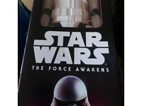 First order storm trooper figure with hand blaster in box 12inch