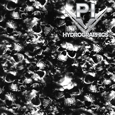 Hydrographic Dip Hydrographic Film Water Transfer Hydro Dipping Skulls Dd696