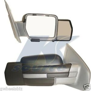 2009 2013 2014 ford f150 clip snap on towing tow mirror extension new pair ebay. Black Bedroom Furniture Sets. Home Design Ideas