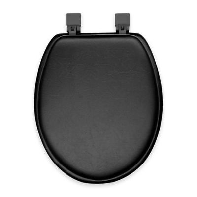 - Black Soft Padded Cushion Toilet Seat Round Standard Size New