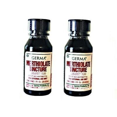 Merthiolate Tincture First Aid Antiseptic  Skin Infection  Scrape   Cuts  Qty 2