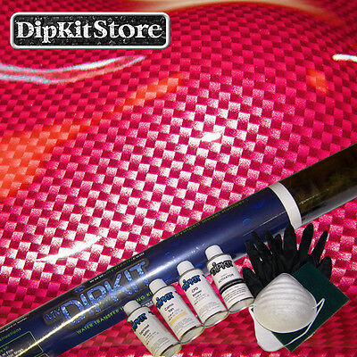 Hydrographic Dipping Kit Large Silver Clear Weave Carbon Fiber Cf56-21pinkpaint