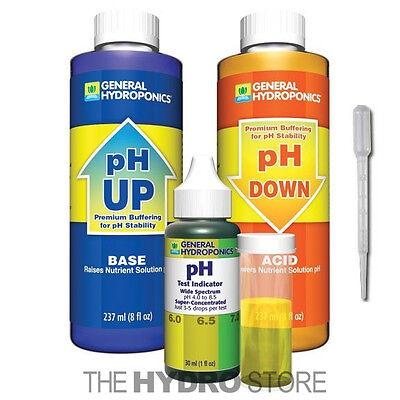 General Hydroponics Ph Control Test Kit    Gh 8 Oz Up Down Adjustment Combo