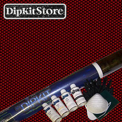 Hydrographics Dip Kitw Activator Black Clear Carbon Fiber Film Cf-152redpaint