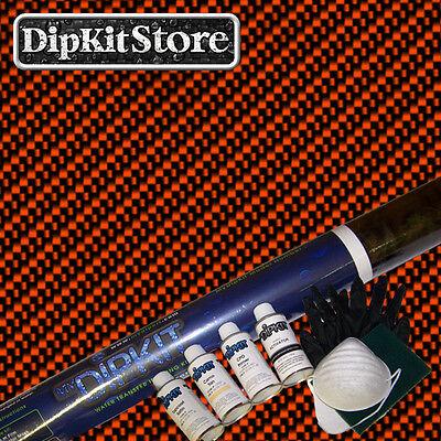 Hydrographics Dip Kit W Large Black Clear Carbon Fiber Film Cf0112worangepaint