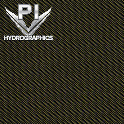Hydrographic Film Hydro Dipping Hydro Dip Clear Light Gold Carbon Fiber Cf0022