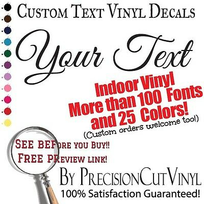 Custom Vinyl Lettering. Wall Decal Text. Vinyl Custom Stickers. Personalized Art