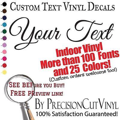 (Custom Vinyl Lettering. Wall Decal Text. Vinyl Custom Stickers. Personalized Art)