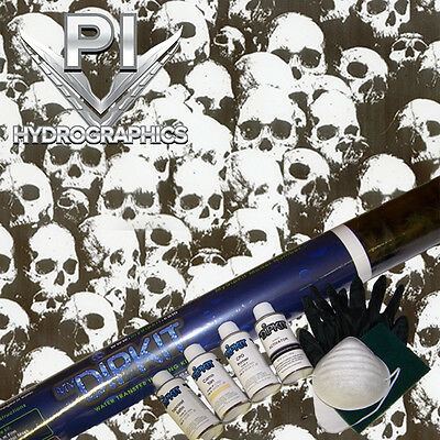 Hydrographic Kit Hydro Dipping Hydro Dip Shadow Clear Skull Ll296-1