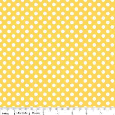 Dots Yellow Small by RBD Designers for Riley Blake, 1/2 yard 100% cotton fabric
