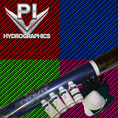 Hydrographic Kit Hydro Dipping Hydro Dip Large Black Clear Carbon Fiber Cf0112