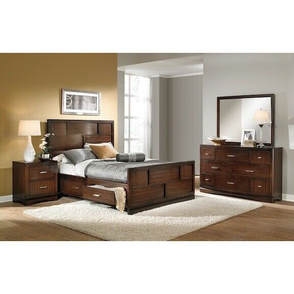 Toronto Pecan 7 Piece Bedroom Set (Queen)