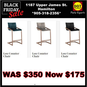ALL NEW STYLE BAR CHAIRS w/STAINLESS BASES 50% OFF