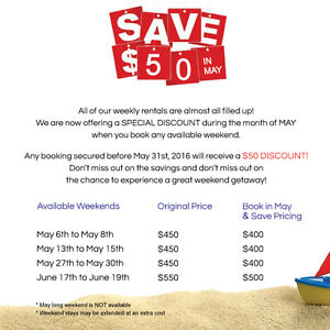 Save $50 in May! Sauble Beach Cottage Rental - Book Now & Save!