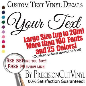 custom vinyl lettering text or name personalized wall With custom vinyl lettering online