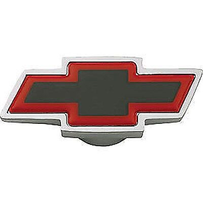 GM 141-333 CHEVY BOWTIE BLACK RED CHROME Spinner Air Cleaner Wing Nut 1/4-20