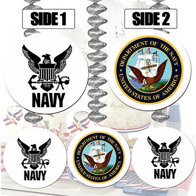 US NAVY Party Supplies HANGING DANGLER DECORATIONS