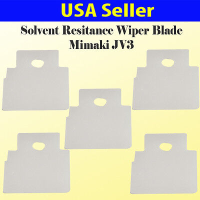 5x Solvent Resistant Wiper Blade For Mimaki Jv3 Dx3 Jv3-160sp Us Seller