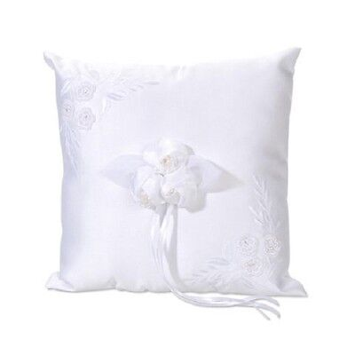 Ring Pillow with Embroidery Square CREAM 8 x 8 inch  W220 8' Square Ring Pillow