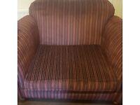 Large Cuddle Chair Purple Stripes