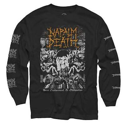 NAPALM DEATH - Obliteration - Long Sleeve T SHIRT M-L-XL-2XL Brand New Official