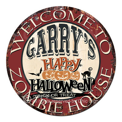 CWZH-0367 WELCOME TO GARRY'S ZOMBIE HOUSE Halloween Decor Funny Gift