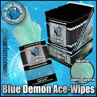Disposable Surface Cleaning Wipes 7 X 6 99.5 Acetone Blue Demon Ace-wipes