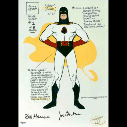 Hanna Barbera-Space Ghost Model Sheet LE Cel Signed By Hanna and Barbera